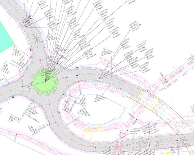 Schaubild eines Plans der mengenmäßigen Flächenermittlung zur Abrechnung